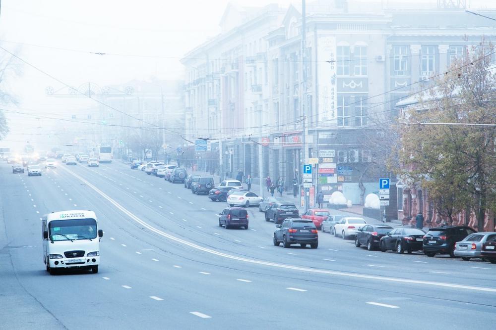 Гололед итуман осложнят жизнь ростовским автомобилистам