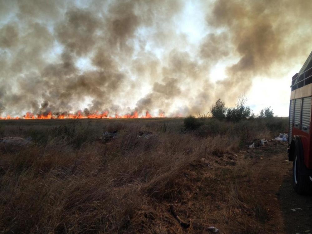 Для тушения пожара в Новочеркасске прибыл специальный поезд