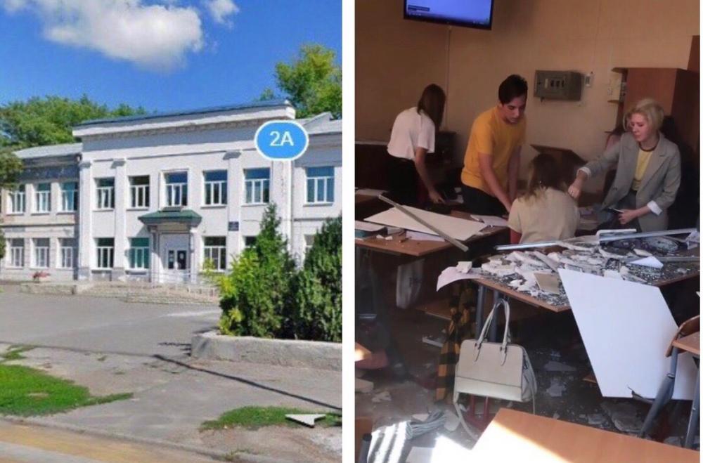 Втаганрогской гимназии вовремя урока научеников упал потолок