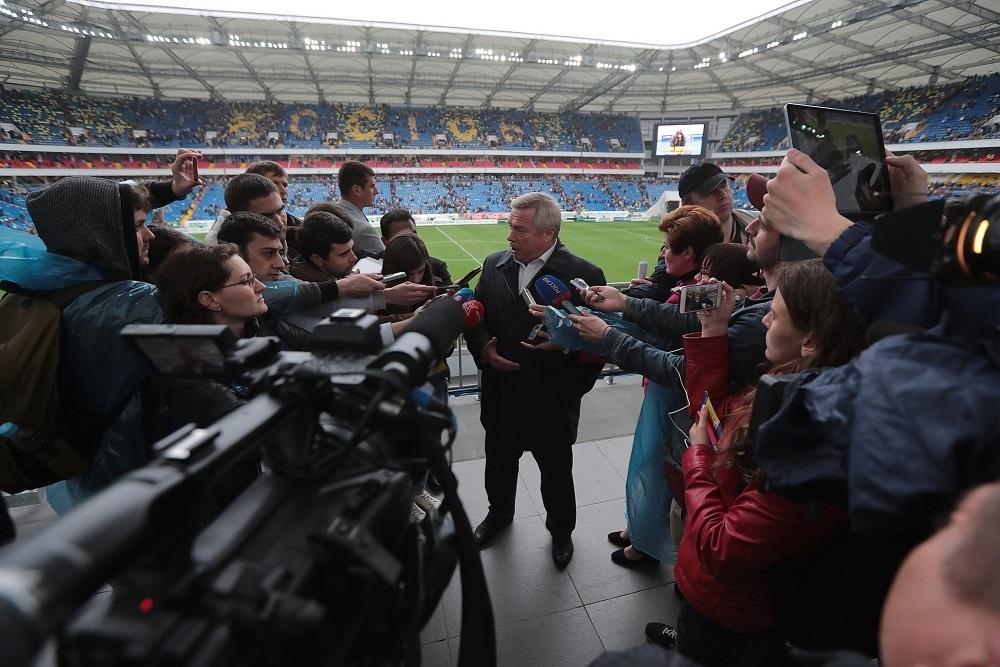 Рейтинг губернатора Голубева подрастили новый стадион и набережная на левом берегу Дона
