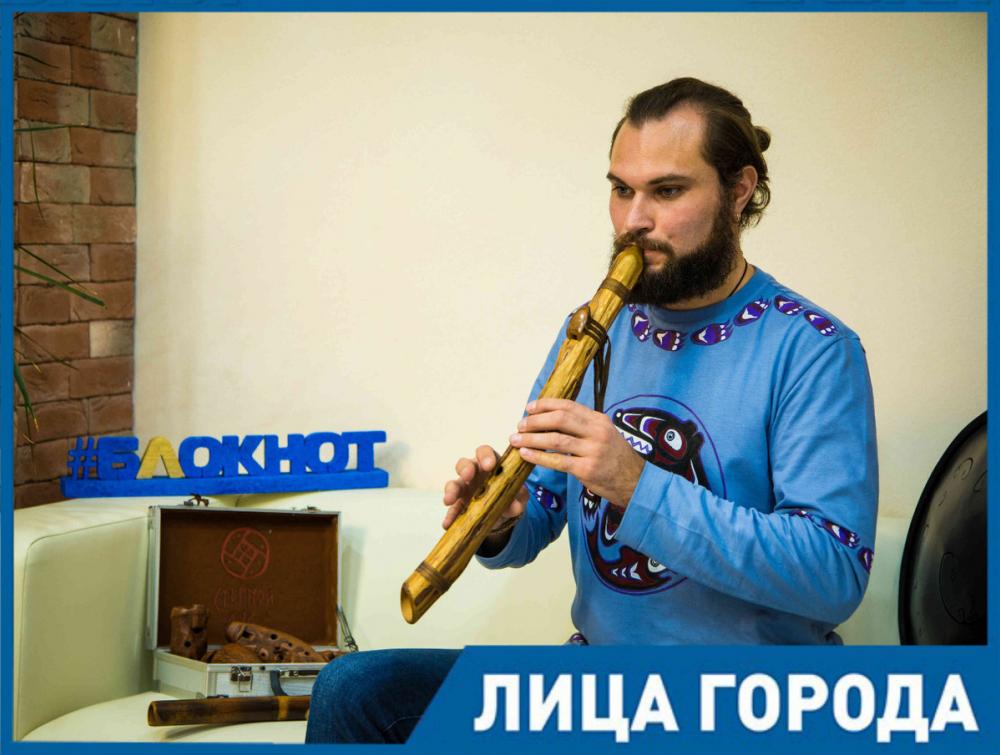 «Музыка может исцелять» - Валентин Шкандыбин открывает читателям «Блокнота» мир удивительных инструментов