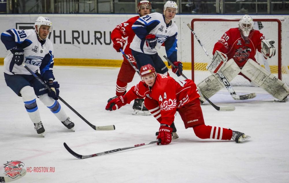 Хоккейный клуб «Ростов» одержал первую победу вВХЛ