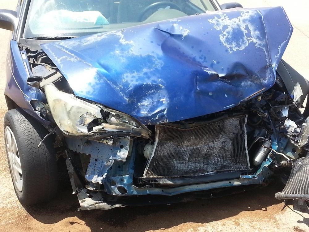 ВШахтах Lada перевернулась после столкновения синомаркой
