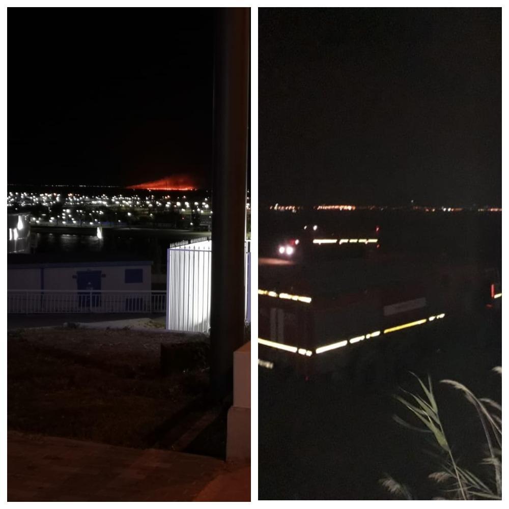 Пожарные полночи тушили горящие поля под Батайском