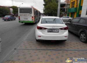 В Ростове автобус врезался в «Мазду»: один человек пострадал