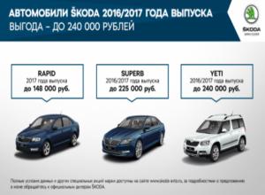 Специальные предложения для клиентов ŠKODA в августе