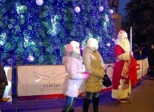 В Ростове-на-Дону торжественно зажгли главную новогоднюю елку