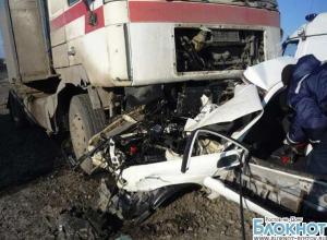 На трассе М-4 «ДОН» MAN смял Mitsubishi: 2 погибли