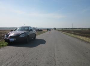 В Ростовской области «Лада-Приора» сбила насмерть женщину-пешехода