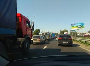 ДТП в Первомайском районе стало причиной гигантской пробки в Ростове