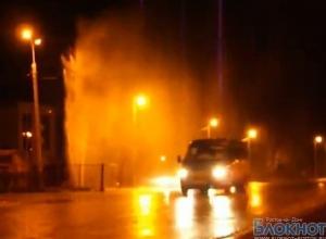 В Волгодонске из-за прорыва канализации забил фонтан (ВИДЕО)