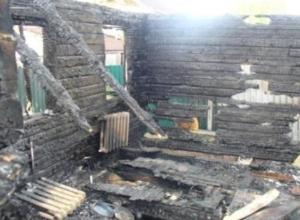 В Ростовской области на пожаре заживо сгорели двое детей
