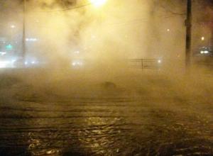 Бесплатный термальный источник забил из под-земли на проспекте Космонавтов в Ростове
