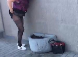 Делающая «это» в самом центре Ростова женщина возмутила горожан и попала на видео