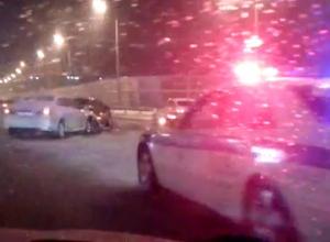Два «корейца» сшиблись на мосту в центре Ростова