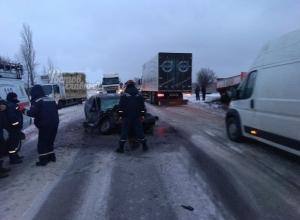 Жуткое ДТП под Ростовом: шанса выжить у водителя ВАЗа не было