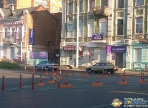 В Ростове на островках безопасности установили делиниаторы