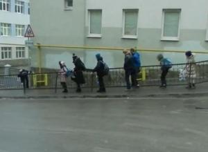 Дороги Ростова-на-Дону превратились в каток. Видео