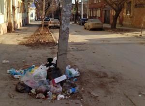 Мусорные свалки под окнами жилых домов обескуражили жителей Ростова