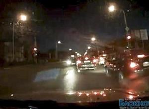 Аварию с четырьмя машинами на Стачках зафиксировал видеорегистратор