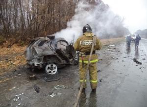 В Тульской области в ДТП с участием «Тойоты» из Ростова заживо сгорели два человека