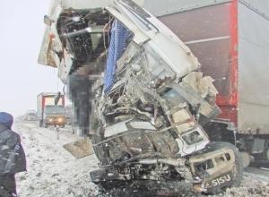 На М-4 «Дон» столкнулись два грузовика: погиб один из водителей