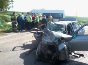 В Ростовской области в ДТП с маршруткой погибли три человека