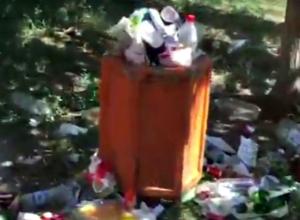 Горы зловонного мусора в городской аллее шокировали жительницу Ростова
