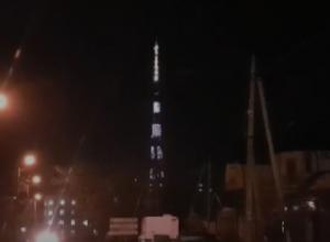 Ростовская телевышка начала радовать горожан удивительным световым шоу