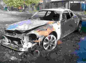 В Ростове автомобиль Maserati  сгорел на глазах у хозяина