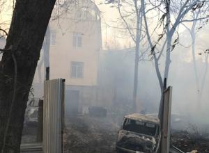 Во время пожара в центре Ростова без электричества остались детские сады