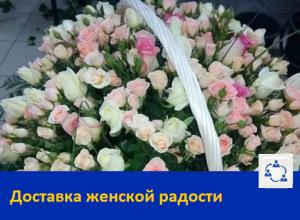 Розы в корзине-Доставка