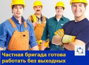 Трезвые и неутомимые рабочие предлагают свои услуги жителям Ростова