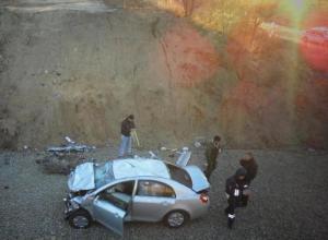 На Дону женщина-водитель разбилась, не заметив знаков о дорожных работах
