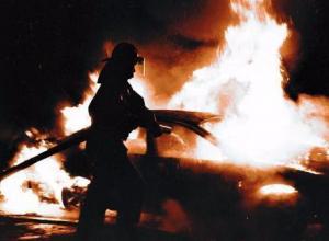 В Таганроге ночью сгорела иномарка