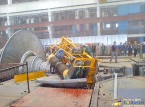 ЧП на Ростовской АЭС: часть подъемного крана упала на турбину. Фото