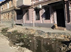 Воняющая лужа с зародившейся в ней новой жизнью отравила жизнь жителям Ростова