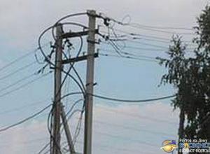 Из-за непогоды в 14 районах Ростовской области нет электричества