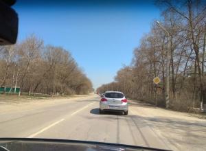 На выезде из Ростова образовалась большая автомобильная пробка