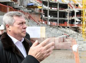 Забастовка строителей «Ростов-Арены» обрушила рейтинг влиятельности Василия Голубева