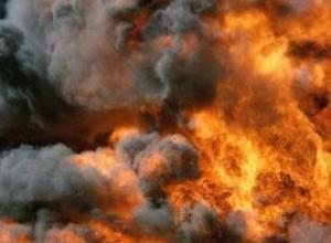 Склад мясной продукции горит в Ростове-на-Дону