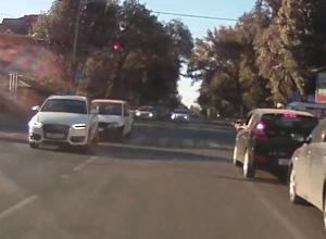 Собака «подколола» автомобилистов и спровоцировала ДТП на пешеходном переходе в Ростове