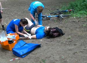 На велодроме ботанического сада в Ростове разбился велосипедист