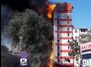 Горящий отель в Ростове может обрушиться  в любой момент