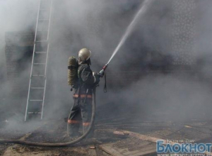 В Ростове-на-Дону сгорел столярный цех