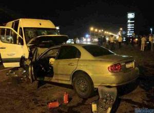 В Ростовской области загорелся автобус
