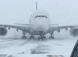 В страшную ледяную ловушку попали самолеты в аэропорту «Платов» в Ростове