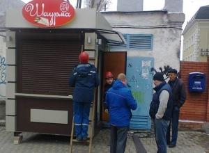 Ларек с шаурмой городские власти снесли в Ленинском районе Ростова
