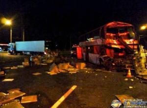 В Ставрополе автобус Буденновск - Новочеркасск врезался в фуру: 4 пострадали