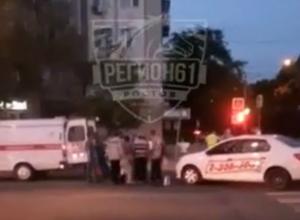 Двух женщин отправил в больницу торопливый таксист на пешеходном переходе в центре Ростова